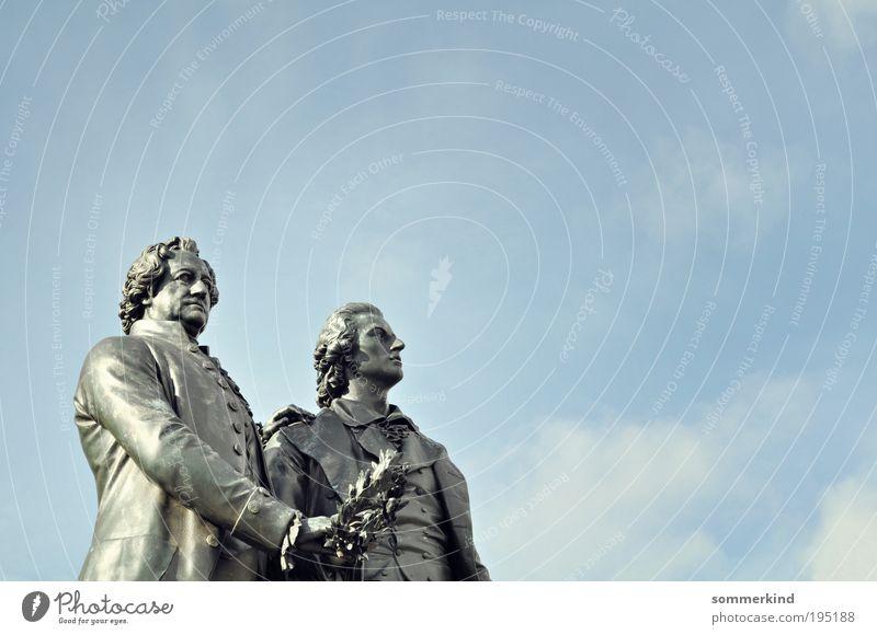 Großartige Geistesgrößen Tourismus Sightseeing Städtereise Bildung Mensch maskulin Freundschaft Erwachsene 2 Skulptur Kultur Denkmal Schiller Goethe Weimar