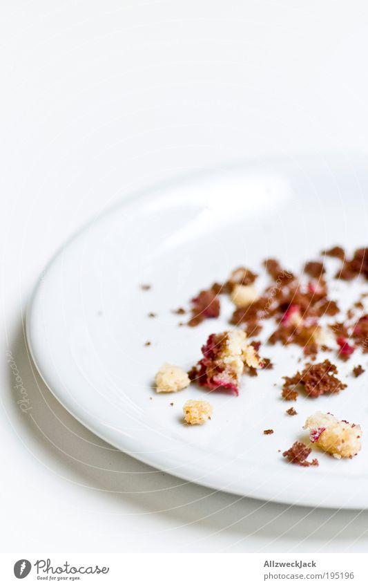 satt weiß hell Lebensmittel Armut Kuchen lecker Teller Backwaren Makroaufnahme Teigwaren Mensch Geschirr Genusssucht