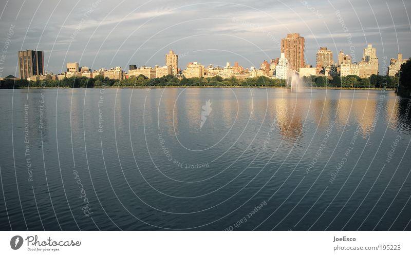 central park nyc Wasser schön Stadt Sommer Ferien & Urlaub & Reisen Erholung Park frei Ausflug Lifestyle USA Tourismus Lebensfreude Gelassenheit Skyline