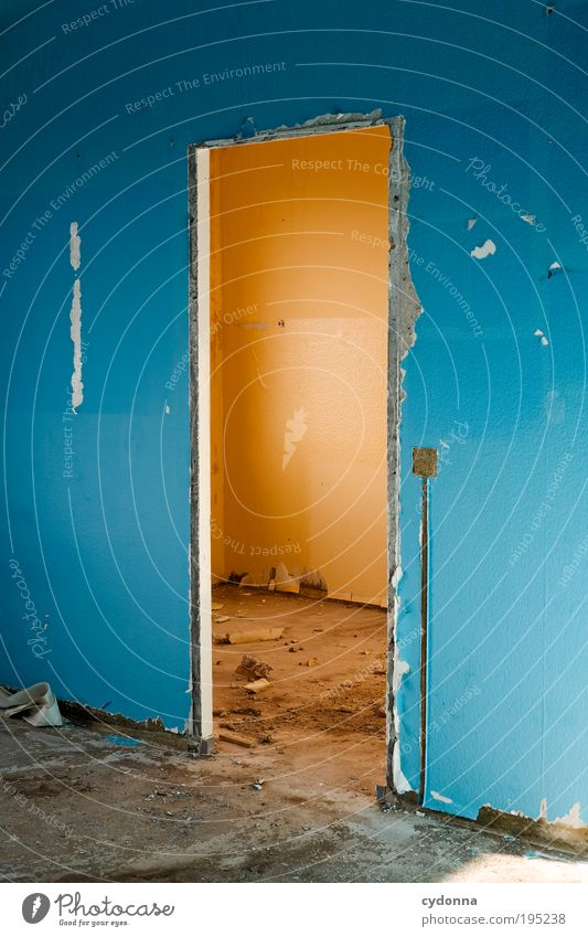 Warm-Kalt-Kontrast ruhig Einsamkeit Leben Wand Stil Freiheit träumen Mauer Raum planen Tür Design Zeit Lifestyle ästhetisch Zukunft