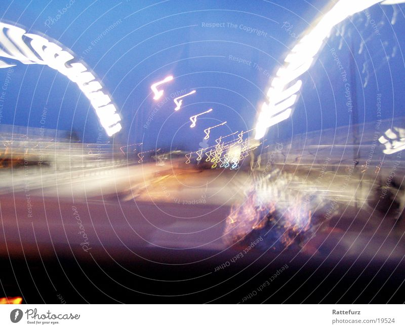Brücke Langzeitbelichtung Morgen Verkehr Lomografie Morgendämmerung Straße Licht