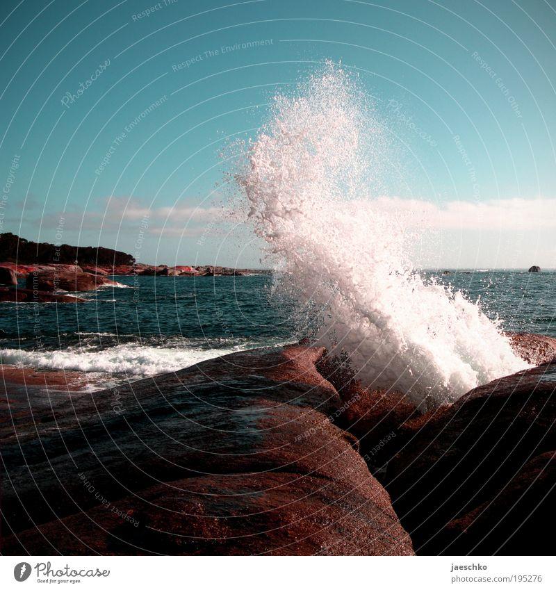 KLATSCH! Natur Wasser Ferien & Urlaub & Reisen Meer Umwelt Stein Küste Wellen Kraft nass elegant Energie Tourismus ästhetisch Macht Urelemente
