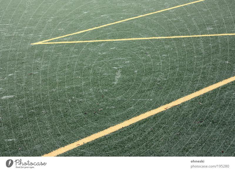 Fünfmeterraum Ballsport Torwart Fußball Sportstätten Fußballplatz Weltmeisterschaft WM 2010 grün Zickzack Linie Kunstrasen Farbfoto Außenaufnahme abstrakt