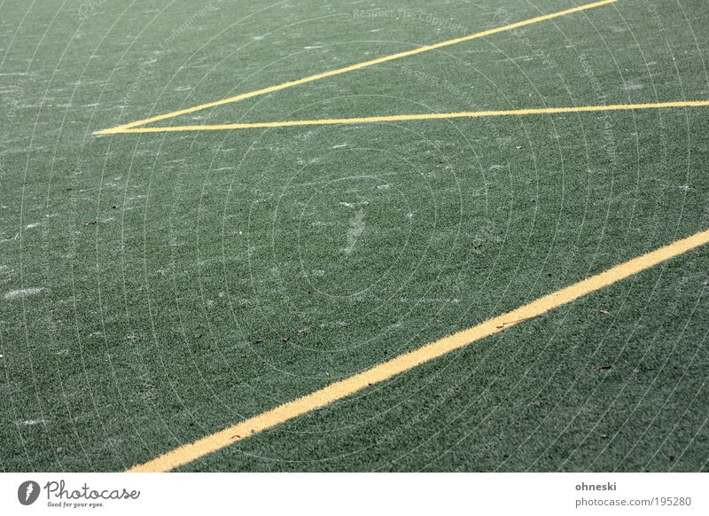 Fünfmeterraum grün Linie Fußball Ball Sportler Fußballplatz Weltmeisterschaft Sport Ballsport Zickzack Torwart Kunstrasen Sportstätten