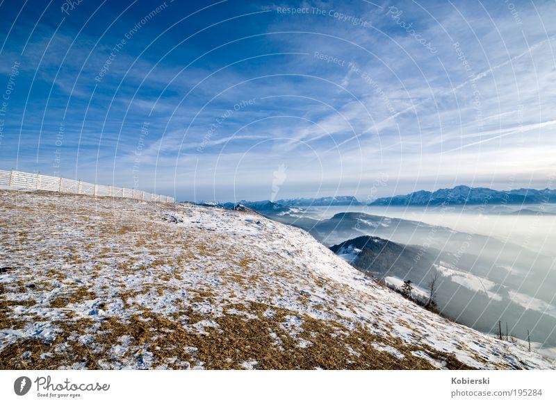Reise in den Raum Himmel Natur blau schön Wolken Winter Einsamkeit Ferne Erholung kalt Leben Schnee Berge u. Gebirge Landschaft Umwelt Eis