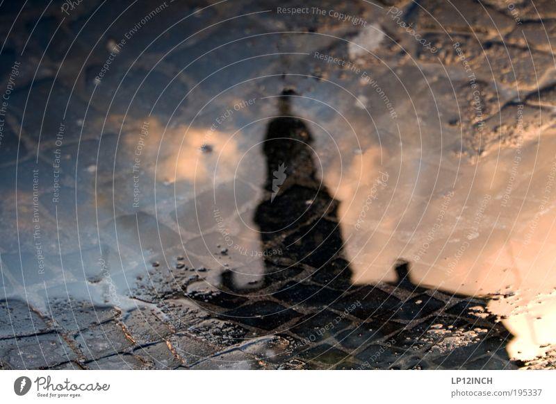[LG10.3] Nasses Pflaster Natur blau Ferien & Urlaub & Reisen schwarz gelb Gefühle träumen Stein Kunst Umwelt Perspektive Tourismus Kultur Neugier entdecken Reflexion & Spiegelung