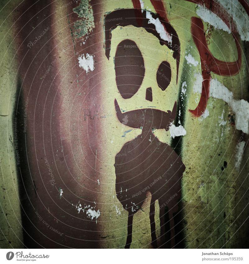 trash in da park Stil Design Jugendkultur Subkultur Mauer Wand einzigartig Straßenkunst Graffiti beschmiert Comicfigur Farbfoto Außenaufnahme Menschenleer Figur