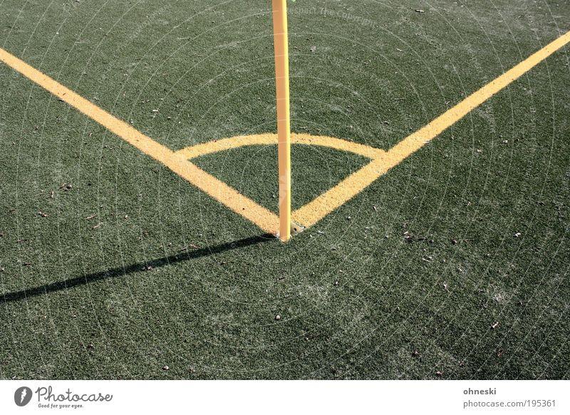 Schalke grün gelb Sport Fußball Ecke Tor Eckstoß Sport-Training Sportveranstaltung Fußballplatz Weltmeisterschaft Sportstätten