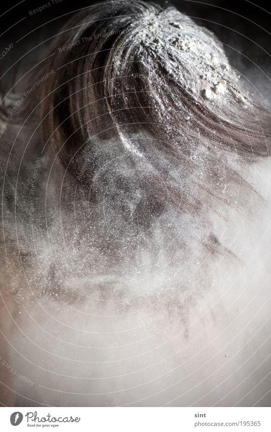 nebelmaschine Mensch weiß Freude Bewegung Haare & Frisuren dreckig Nebel maskulin außergewöhnlich verrückt einzigartig skurril drehen Mut brünett