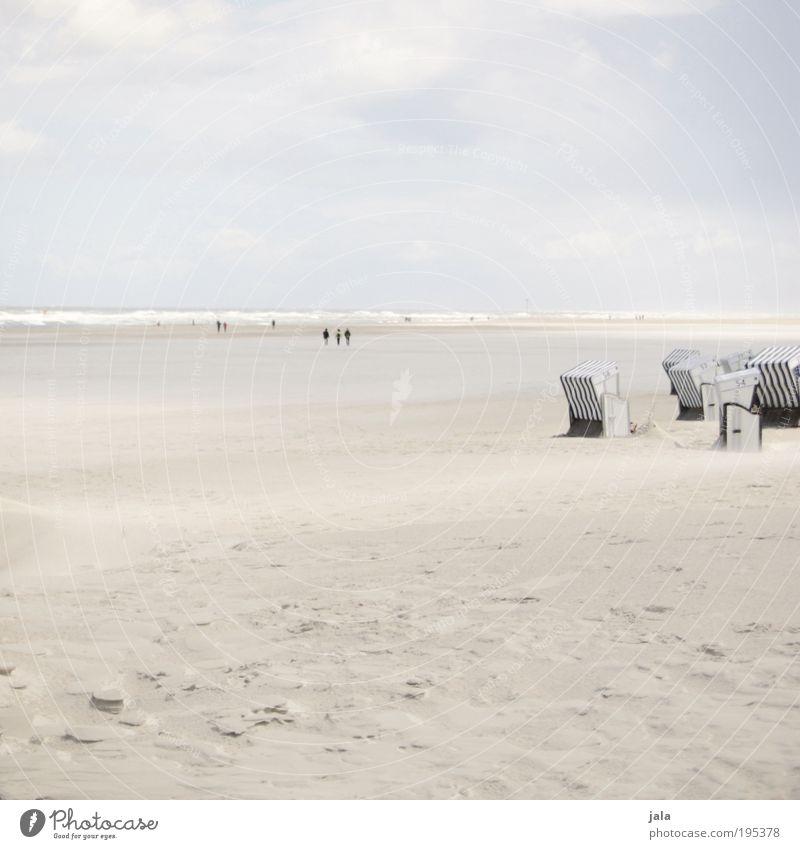 Watt und Wind Himmel Natur Wasser Sommer Meer Strand Erholung Landschaft Küste Menschengruppe hell Horizont Zufriedenheit Kraft frei Insel