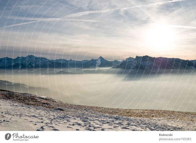 Reise in den Raum II Natur Winter kalt Schnee Erholung Berge u. Gebirge Landschaft Zufriedenheit Tourismus Sauberkeit einzigartig wild fantastisch Unendlichkeit