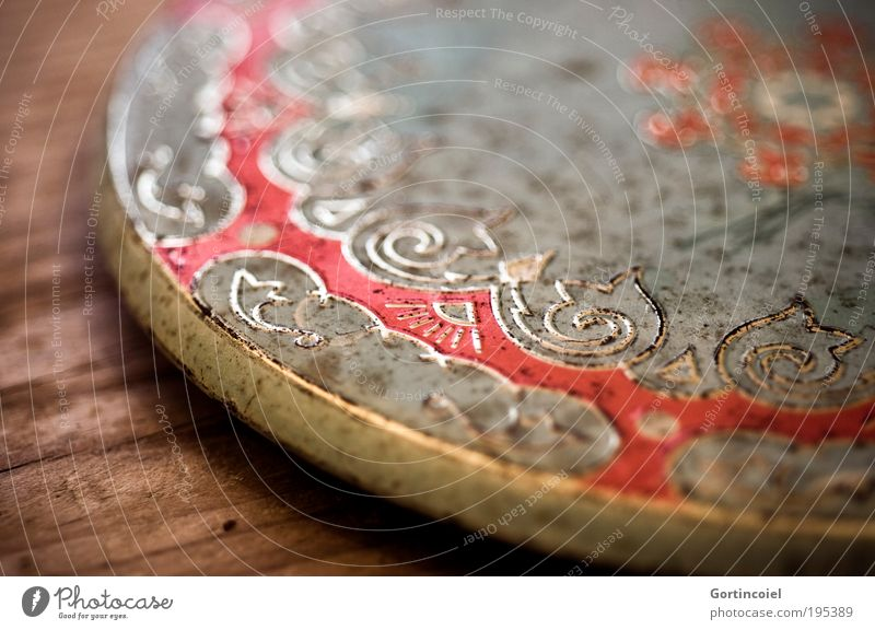 Blechdose Reichtum elegant Stil Design Kunst Dekoration & Verzierung Kitsch Krimskrams Verschlussdeckel Tablett Muster Dose Metall Ornament alt schön trashig