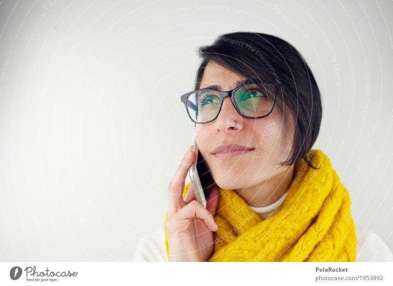 #A# Thinking Mensch Frau sprechen Glück Denken Kommunizieren Erfolg Perspektive Telefon Beruf Werbung Kontakt Karriere Termin & Datum Telefongespräch kompetent