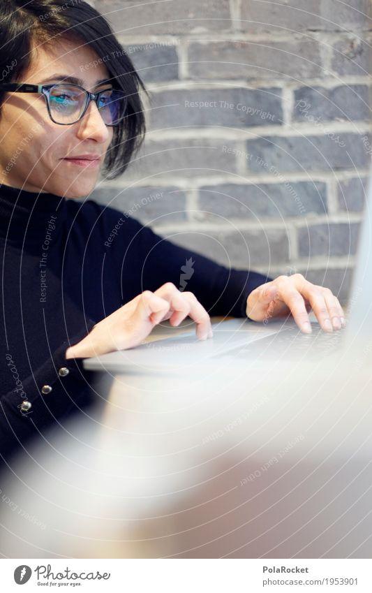#A# working Mensch Frau Arbeit & Erwerbstätigkeit ästhetisch Beruf Suche Karriere Tastatur Arbeitsplatz Notebook Mitarbeiter Motivation Brillenträger