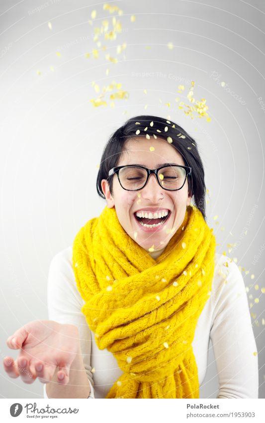 #A# Spaß in Gelb Mensch Freude gelb feminin lachen Party Feste & Feiern Kreativität Geburtstag Lächeln Lebensfreude Ziel Gelassenheit Student Leichtigkeit