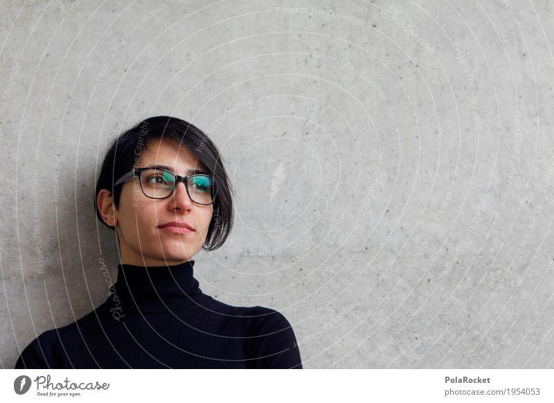 #A# Blick in die Zukunft 1 Mensch Karriere Zukunftsorientiert Zukunftstraum Erscheinung Frau Kraft Brille dezent Betonwand Perspektive Arbeit & Erwerbstätigkeit