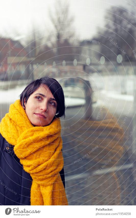 #A# Winter Memories Mensch Frau ruhig Mode Denken träumen Glas ästhetisch Perspektive Zukunft Vergangenheit Student Model Erinnerung verträumt