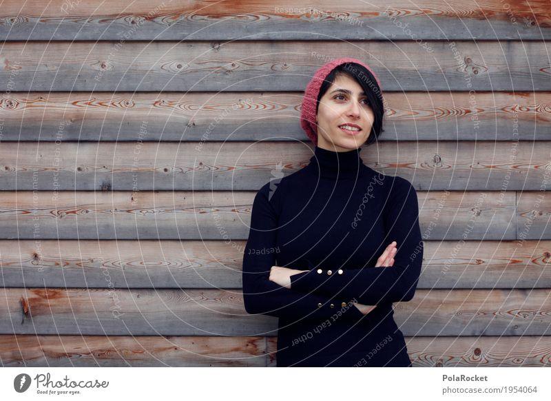 #A1# Blick in die Zukunft Kunst ästhetisch kompetent Frau Emanzipation Frauengesicht Mütze Winter Winterbekleidung Mode Model Karriere Zukunftsorientiert