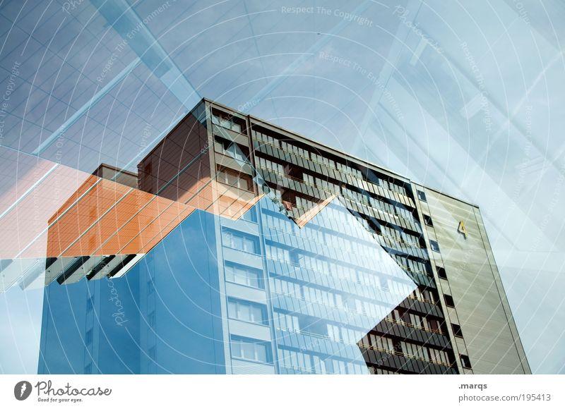 Wohnraum Himmel Stadt Architektur Gebäude Stil Wohnung Fassade außergewöhnlich Hochhaus neu Lifestyle Wandel & Veränderung skurril Stress trendy