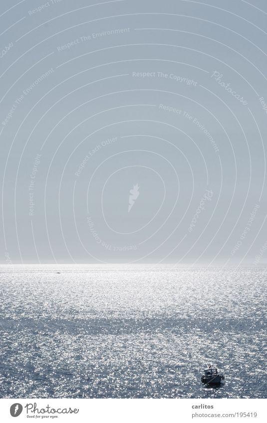 Meer ! Wasser Himmel blau Sommer Ferien & Urlaub & Reisen ruhig Ferne Freiheit Wärme Zufriedenheit Küste Wellen Horizont ästhetisch Tourismus