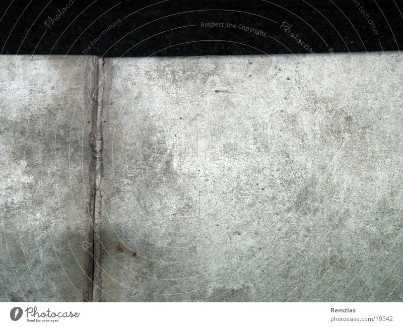 Melancholie in Blech Oberfläche Naht obskur Metall Strukturen & Formen Reflektion