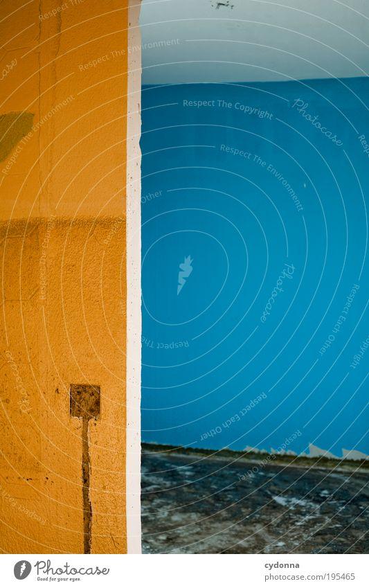 Ohne Strom Einsamkeit Farbe Leben Wand Stil träumen Mauer Raum Tür Design Lifestyle Elektrizität Bodenbelag Wandel & Veränderung Häusliches Leben Vergänglichkeit