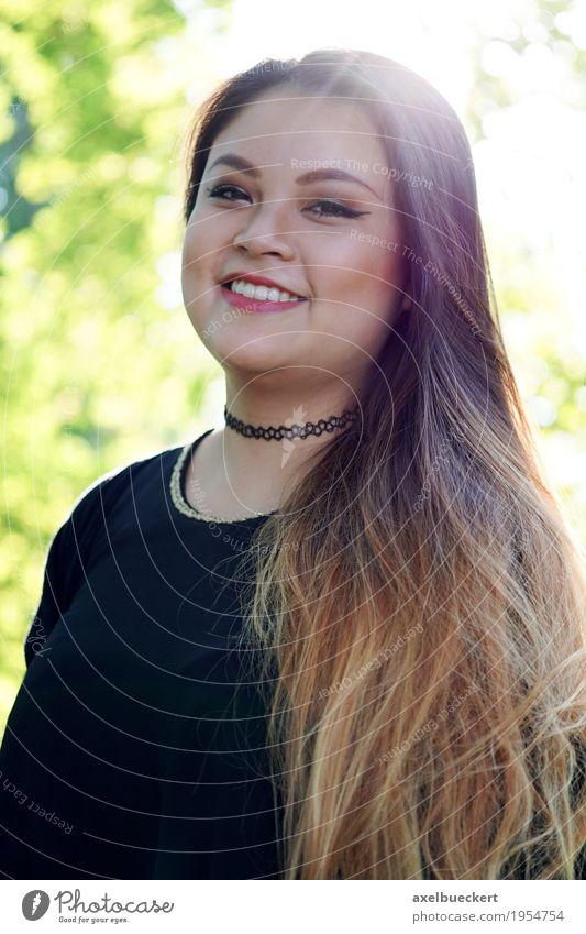 junge Asiatin Mensch Natur Jugendliche Sommer Junge Frau schön Baum Freude 18-30 Jahre Erwachsene Frühling Lifestyle feminin lachen Glück Freizeit & Hobby