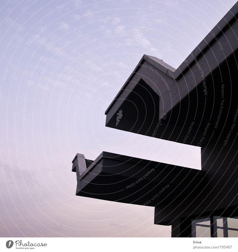winged Mensa [BO] Himmel Bochum Treppe Fenster weich blau grau violett graphisch sanft aufwärts Linie Studium modern eckig Menschenleer Textfreiraum links