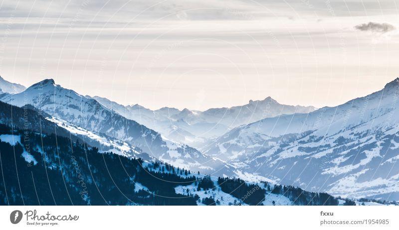 Aussicht vom Beatenberg beatenberg Berge u. Gebirge Berner Oberland Schweiz Felsen Alpen niederhorn Winter wandern Hintergrundbild Landschaft Natur