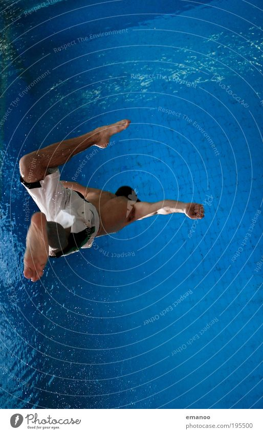 hang tight Mensch Jugendliche Freude Sport springen Bewegung Freiheit Fuß Erwachsene maskulin fliegen Schwimmbad Freizeit & Hobby tauchen Schwimmen & Baden