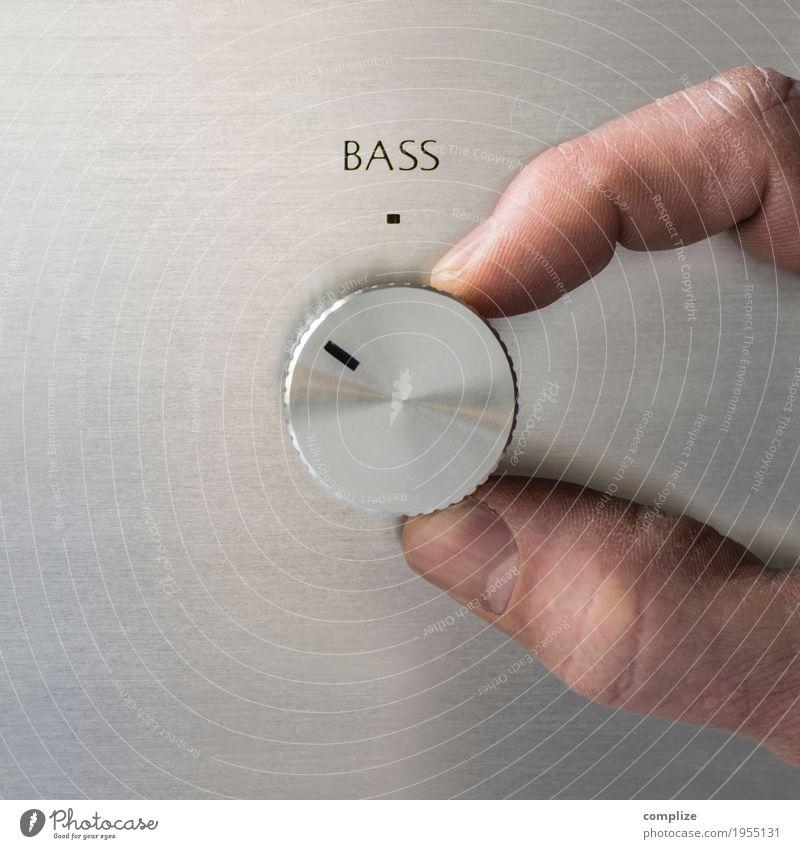 Turn up the Bass ruhig Freude Party Feste & Feiern Design Wohnung Metall Häusliches Leben Musik Tanzen Gastronomie Veranstaltung drehen Club Disco Radiogerät