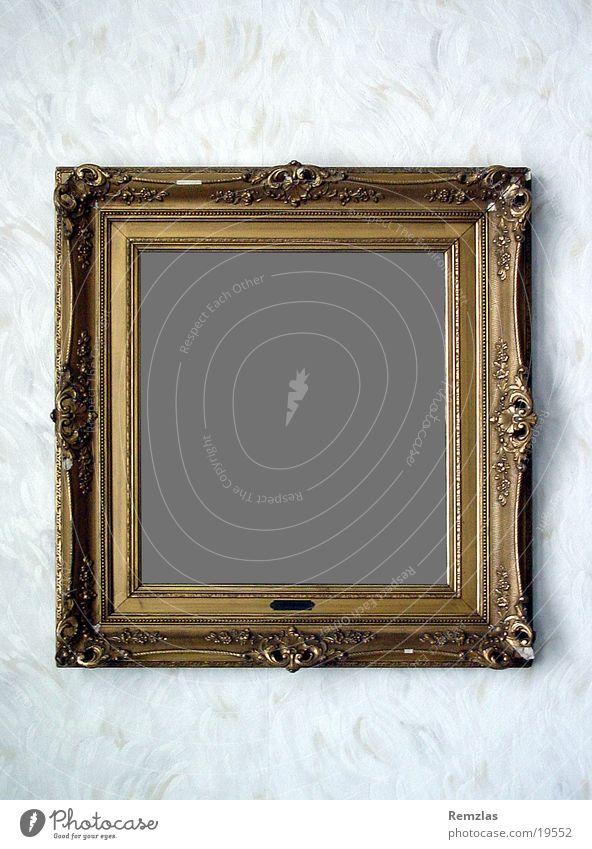 Alter Bilderrahmen alt Wand Kunst gold Dinge Tapete Rahmen Ornament