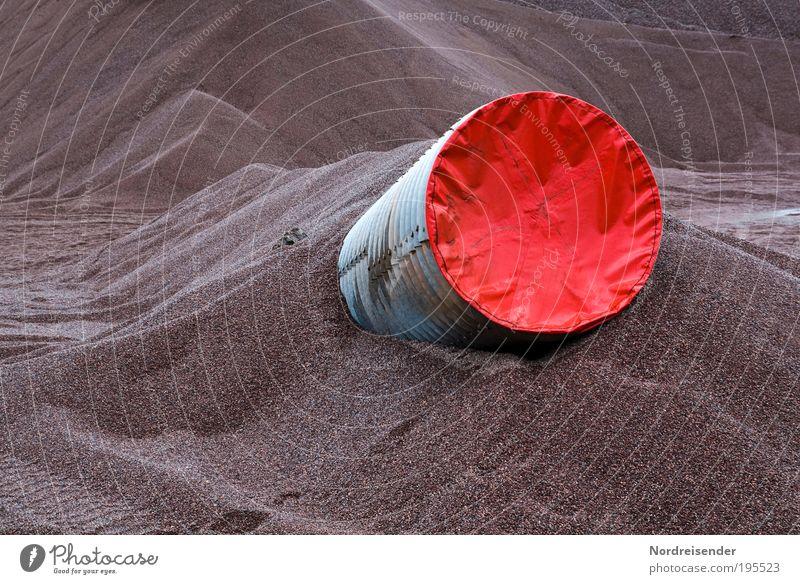 Gesichertes Wurmloch Arbeit & Erwerbstätigkeit Stein Wege & Pfade Sand Umwelt Ausflug Industrie bedrohlich Baustelle Beruf Unendlichkeit Zeichen gruselig