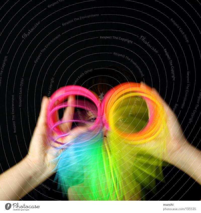 Brillenschlange Frau Mensch Auge Spielen Bewegung Kopf Kunst Erwachsene Politische Bewegungen Freizeit & Hobby Spielzeug mehrfarbig Blick Spirale Gesicht