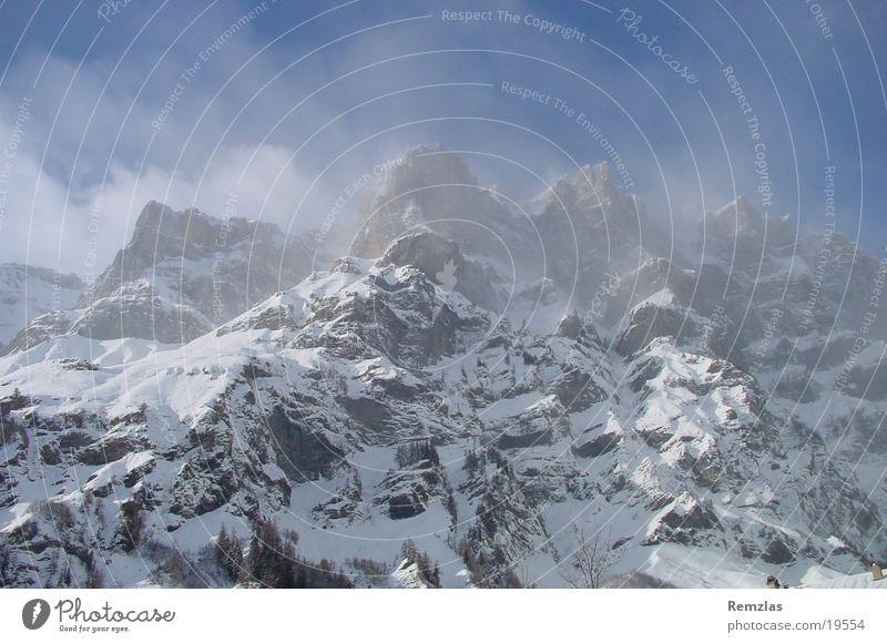 Berge Schnee Berge u. Gebirge Wetter Alpen