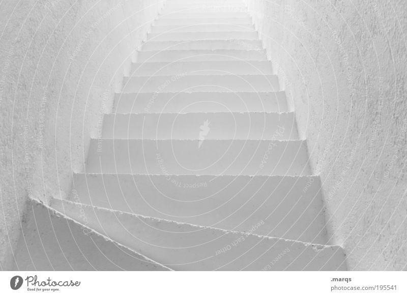 #ffffff elegant Stil Design Häusliches Leben Wohnung Innenarchitektur Architektur Mauer Wand Treppe ästhetisch eckig hell neu oben positiv Sauberkeit weiß