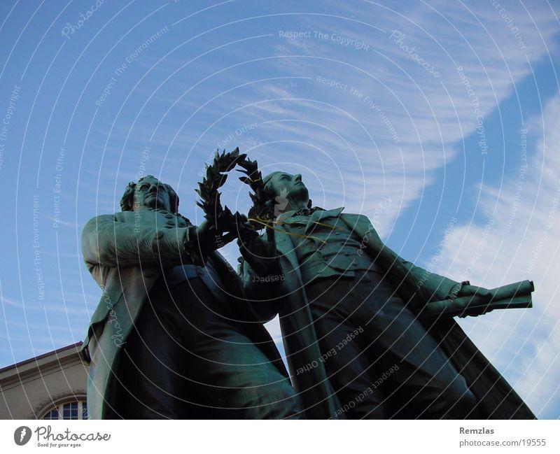 Goethe und Schiller Mensch Leipzig geschlossen Kultur Denkmal Weimar Sachsen Nationaltheater