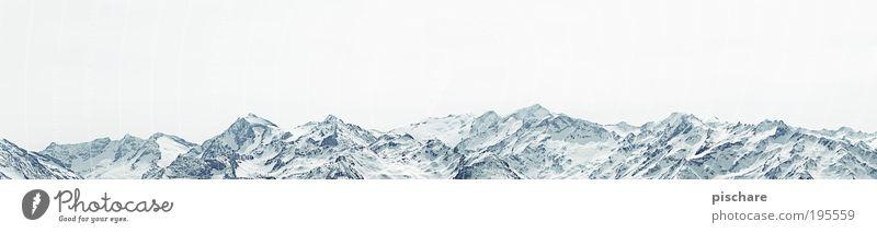 Kitzbüheler Alpen Natur blau Ferien & Urlaub & Reisen Winter Ferne kalt Schnee Freiheit Berge u. Gebirge Landschaft Umwelt Horizont frei Perspektive