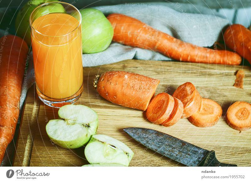grün Essen Herbst Holz Gesundheitswesen grau orange Frucht Ernährung Glas retro Glas Küche trinken Gemüse Stoff