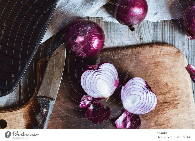 alt rot dunkel schwarz Speise Holz grau braun oben Metall frisch retro Küche Gemüse Stoff Messer