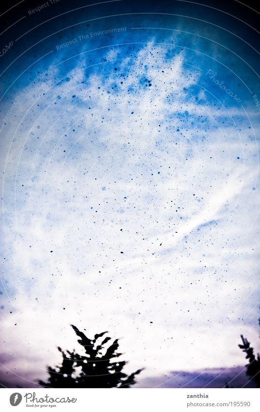 emission Himmel blau Wolken Umwelt Klima Schweben Umweltverschmutzung Farbverlauf Emission Textfreiraum links Luftverschmutzung Partikel Ruß