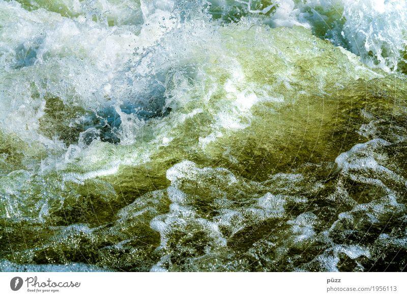 Wasser Natur blau Sommer grün weiß Umwelt kalt Herbst Frühling natürlich Schwimmen & Baden wild Wellen frisch Wassertropfen