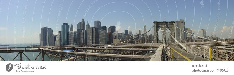 new york skyline 02 Architektur groß Brooklyn Skyline Stadt New York City Panorama (Bildformat) Brooklyn Bridge