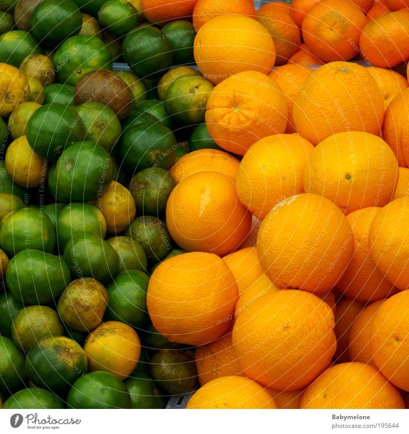 Grürange Natur grün Ernährung Leben Orange orange Gesundheit Lebensmittel Energie Frucht lecker Appetit & Hunger Duft Markt exotisch Südfrüchte