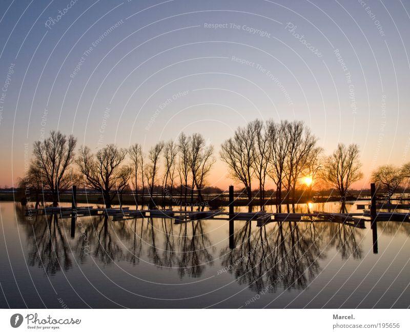 Beautiful Moments Natur Wasser schön Himmel Sonne blau schwarz gelb Ferne Erholung Gefühle grau Wärme Zufriedenheit frei Horizont