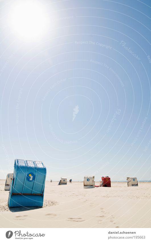 urlaubsreif !!! Himmel Sonne Meer blau Sommer Strand Ferien & Urlaub & Reisen Ferne Erholung Sand Wetter Insel Tourismus Klima Sonnenbad Schönes Wetter