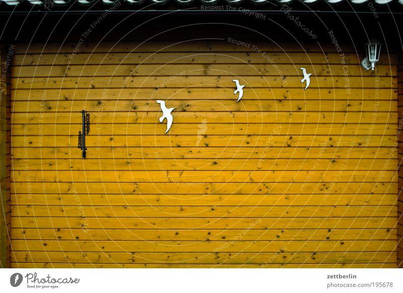 Thermometer, Möwen, Lampe Natur ruhig Erholung Wand Holz Garten braun Dekoration & Verzierung Hütte Schrebergarten Vogel Gebäude Holzwand März