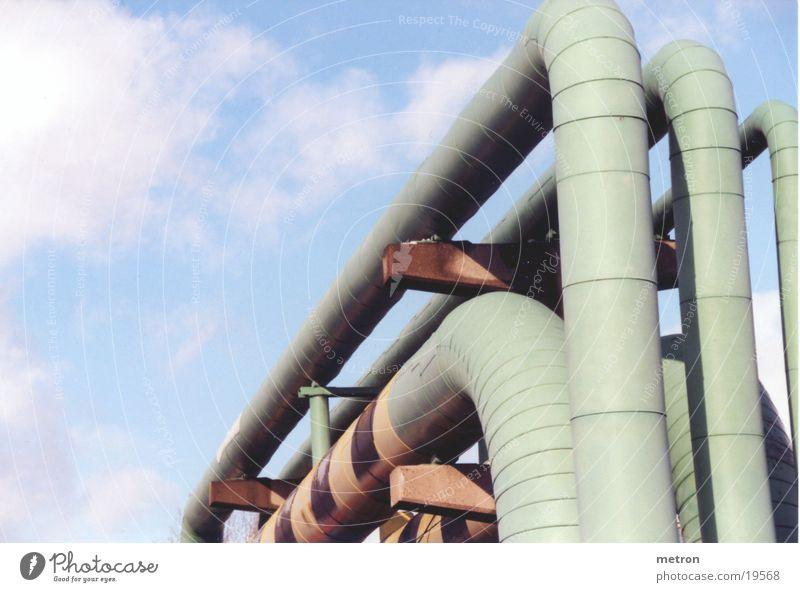 rohre3 grün Industrie Eisenrohr Leitung Produktion Wasserrohr Warmwasser