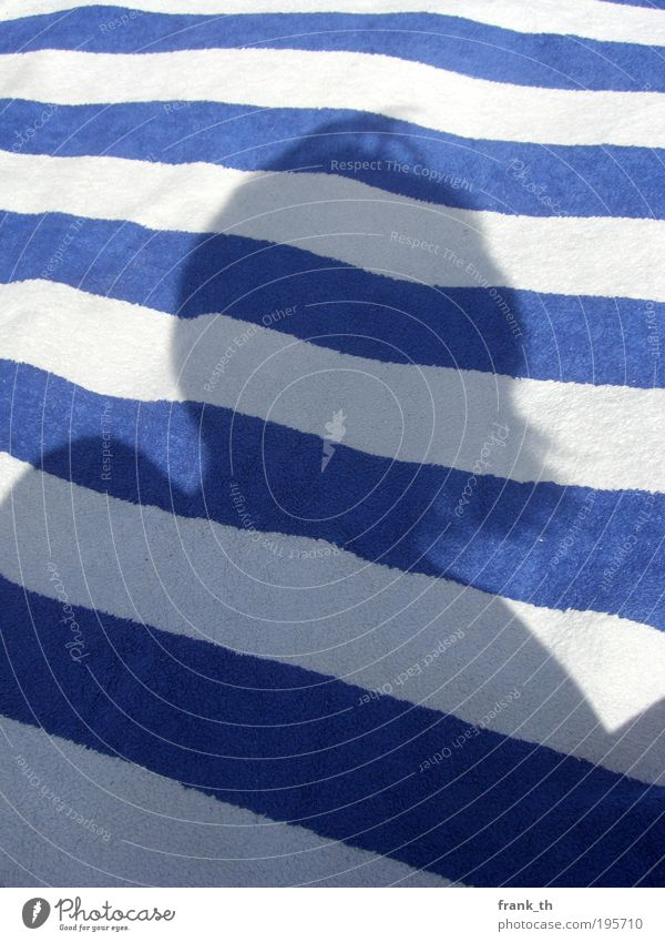 silhouette Mensch blau Ferien & Urlaub & Reisen Sommer Strand ruhig Ferne Erholung Kopf Haare & Frisuren Linie Zufriedenheit Schwimmen & Baden natürlich