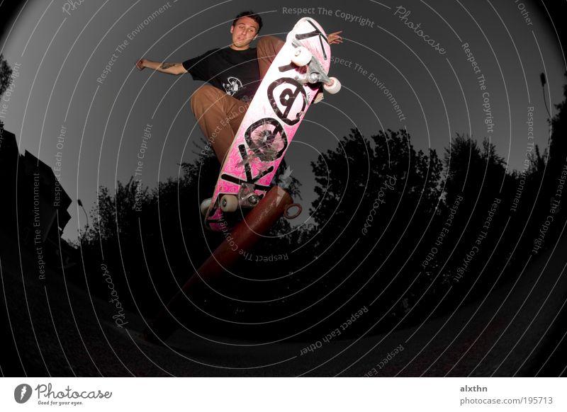 Pole Jam Mensch Jugendliche Sport Erwachsene maskulin Skateboarding Risiko 18-30 Jahre